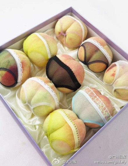 内裤桃子 创意水果包装亮瞎众人眼图片