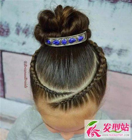 儿童盘头发图片 最全盘发发型图片