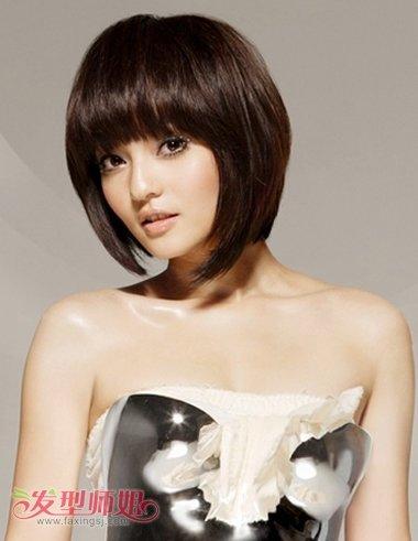 不等式波波头发型图片 沙宣短发不等式发型图片