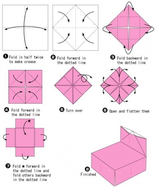 折纸凳子 儿童简单手工折纸小凳子折纸教程