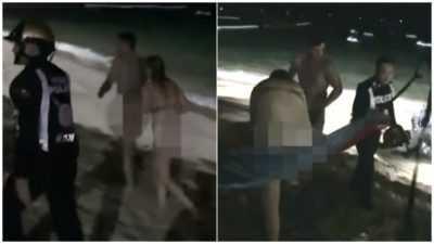 泰国旅游节目啪友 英国情侣在泰国芭达雅海边忘情交合