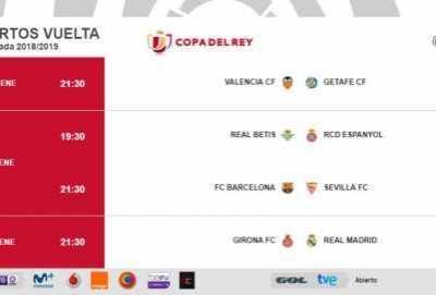 西甲国王杯决赛时间 西班牙国王杯1/4决赛次回合时间确定