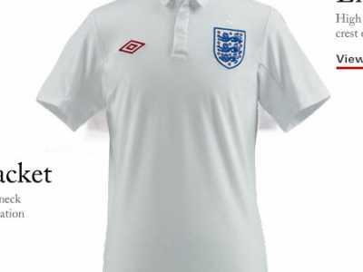 英格兰足球队服 英格兰国家队09-11赛季主场球衣